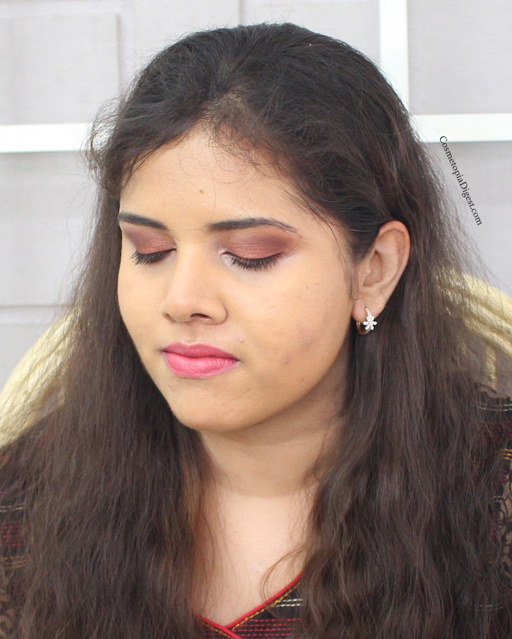 4b3c1d7ea460a Here is a Fall Makeup Look featuring Cargo Cosmetics Venice Enchantment  Eyeshadow Palette and HD Picture Perfect Liquid Foundation.