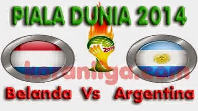 Prediksi Hasil Akhir Laga Semi-Final FIFA World Cup 2014 : Belanda vs Argentina