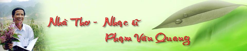 Nhà thơ Phạm Văn Quang