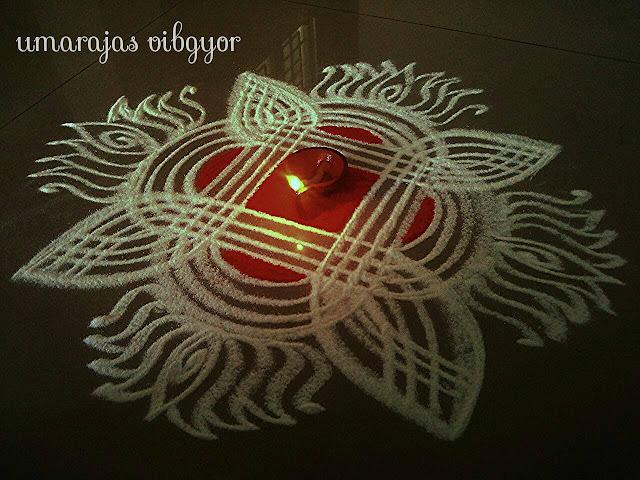 Simple Rangoli for Diwali 2
