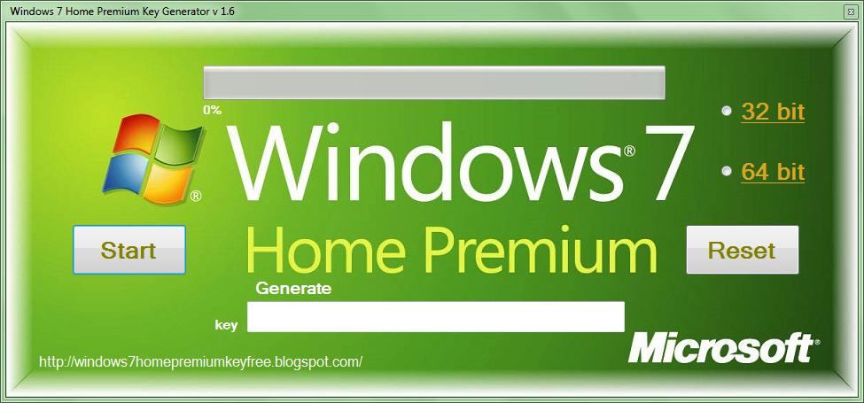 Windows 7 Home Premium Key Generator V 1 6