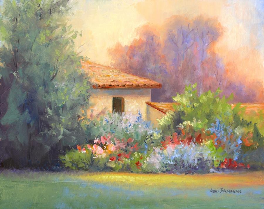 Tuscan Garden Home By Joni Finnegan Mn Oil Painting Artist