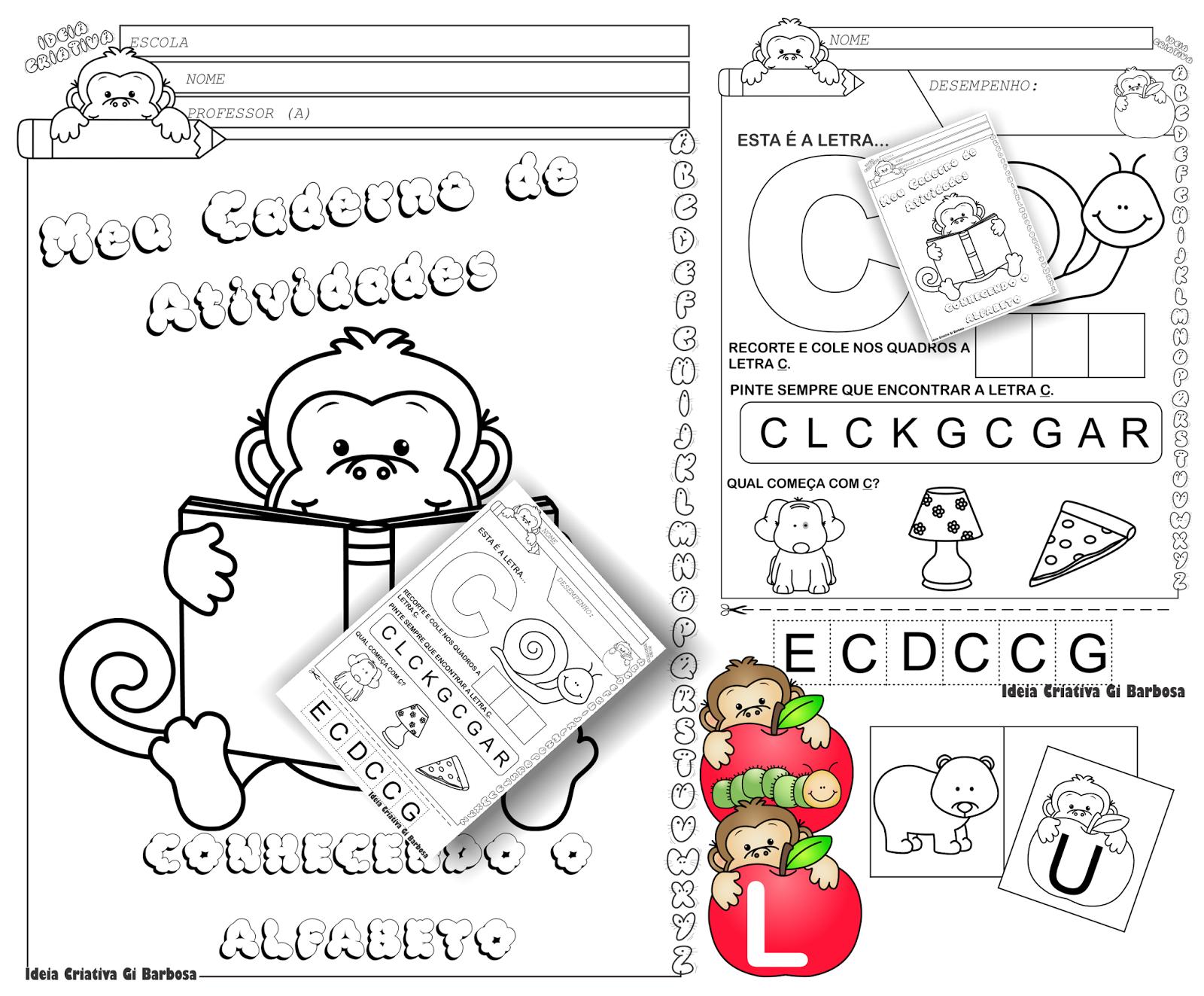 Caderno de Atividades Conhecendo o Alfabeto