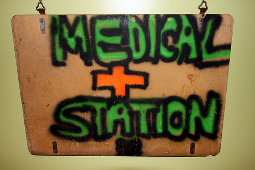 Medical Station sign