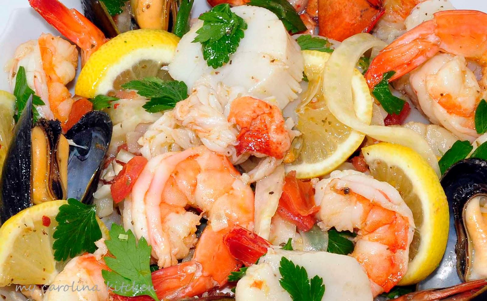 My Carolina Kitchen: Italian Seafood Salad