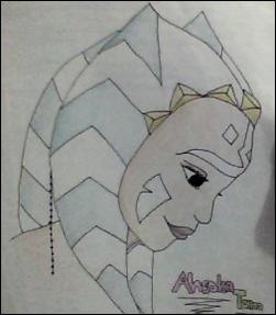 how to draw ahsoka tano