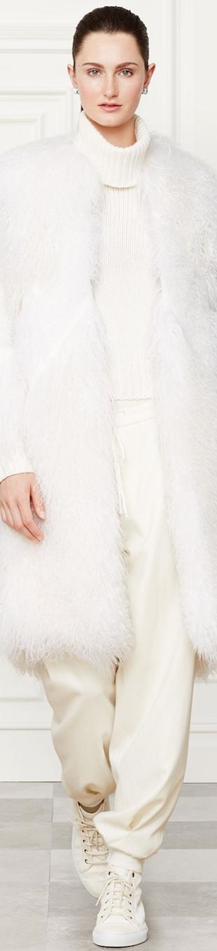 Ralph Lauren Shearling Elizabeth Coat Fall 2014 Collection