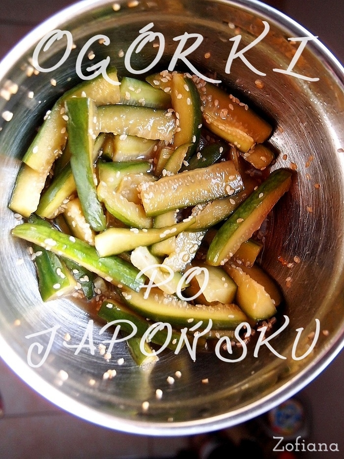 Japanese style cucumber salad with sesame