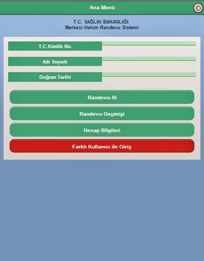 Merkezi Hekim Randevu Sistemi Android Uygulaması resimi 2