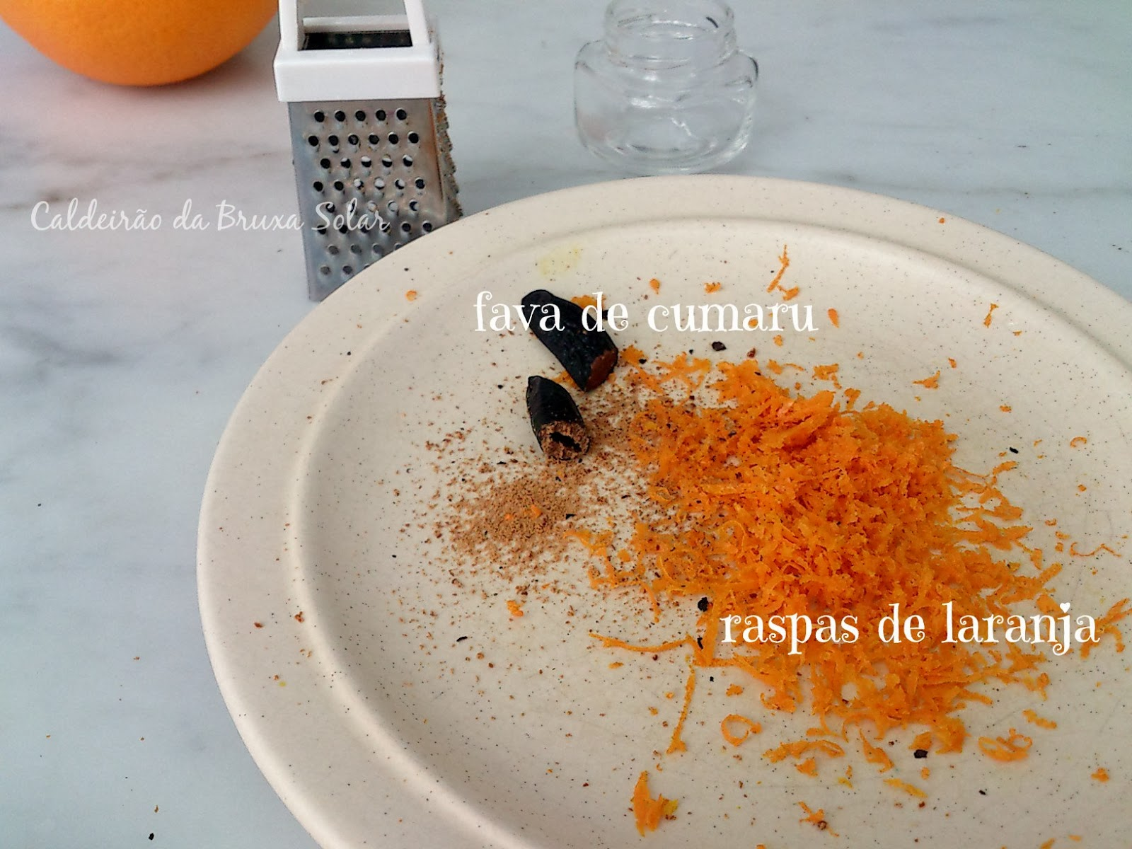 Flan de laranja e limão siciliano com Cumaru