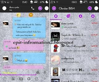 BBM Mod Simple Purple Apk 2.9.0.44 + Autotext/Bom PING!!