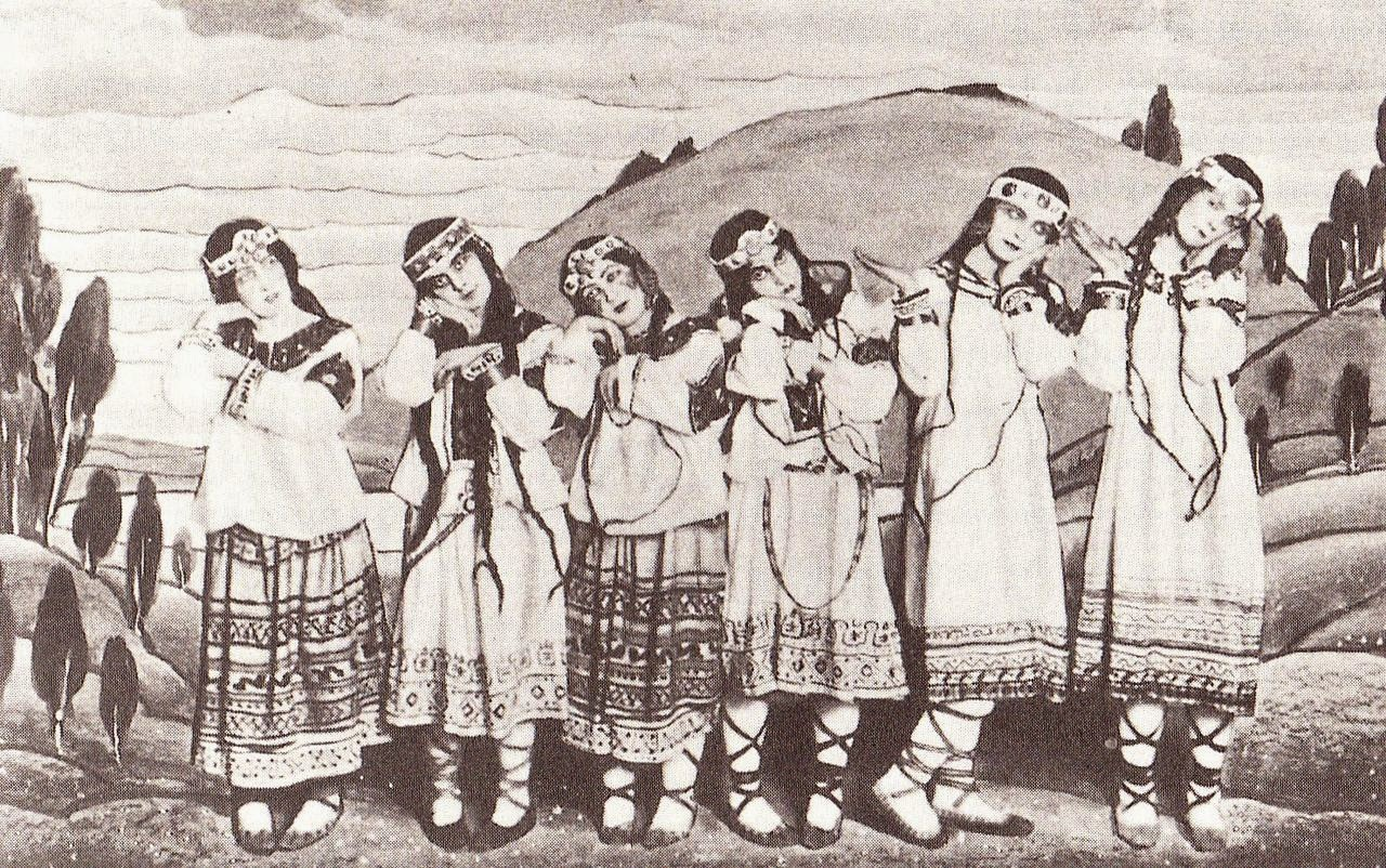 Dancers from the première of The Rite of Spring