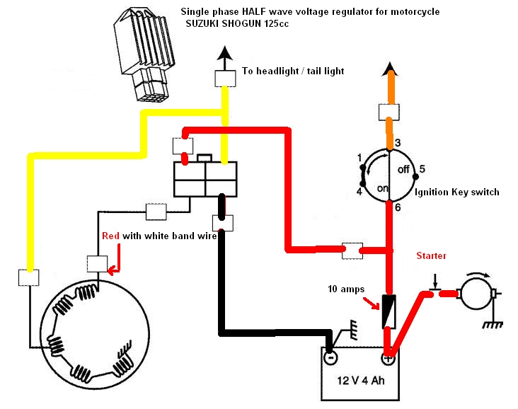 voltage regulator, a summary techy at day, blogger at noon, and on Yamaha 650 Chopper Wiring Diagrams for first and foremost, the single phase, the picture above illustrates a single system half wave regulation, you can see that the one end of the stator is at Yamaha 1100 Wiring Diagrams