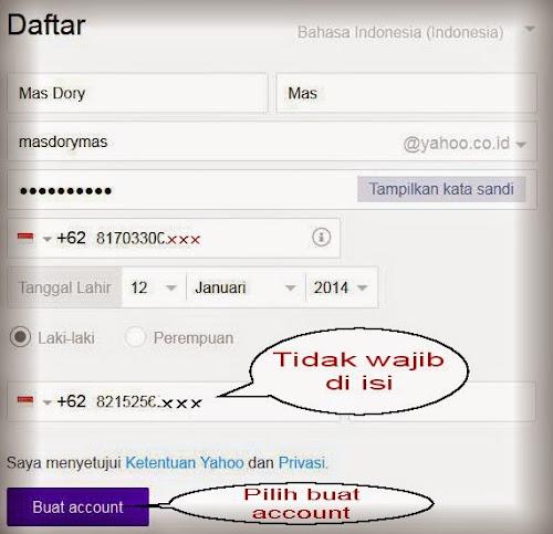 Gambar contoh formulir daftar email yahoo oleh mas dory saputro