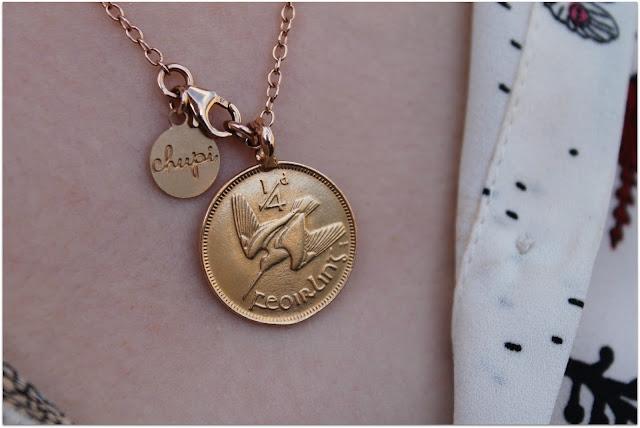 Chupi Irish Farthing Coin Necklace