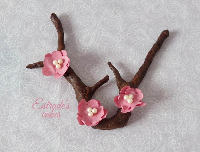 flor de cerezo de papel de arroz 5