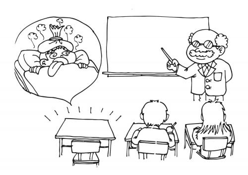 Ausencia de ni o a clases por enfermedad para colorear y - Ninos en clase dibujo ...