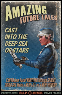 Pulp-o-mizer cover image for my Catholic science fiction work in progress, Cast Into the Deep Sea of Stars