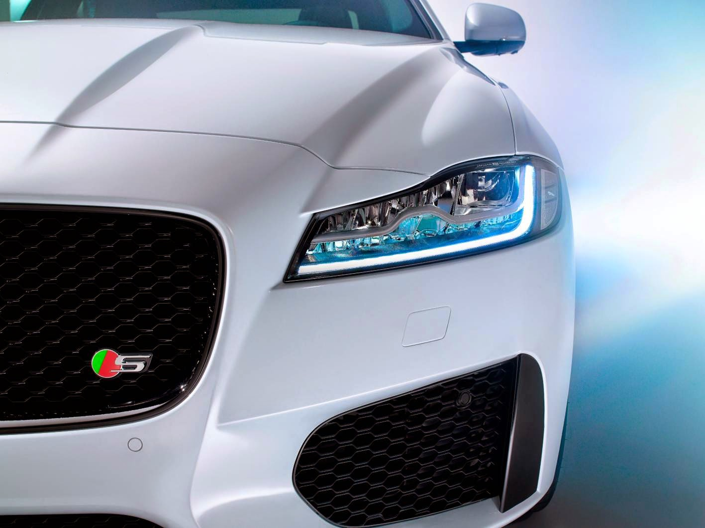New Jaguar XF close up front