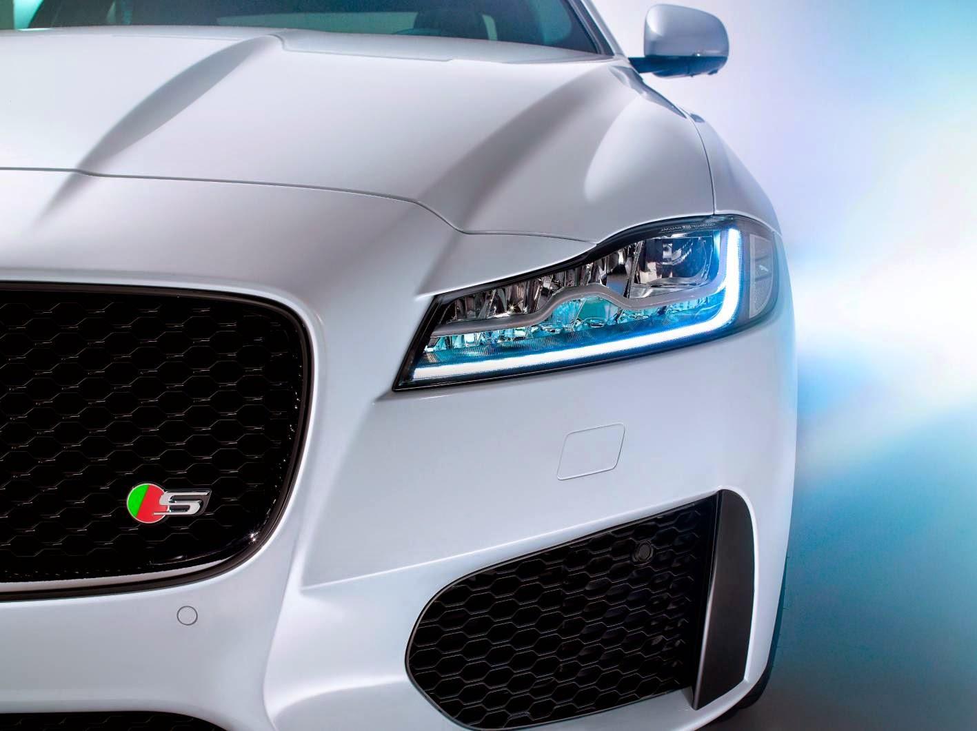 New Jaguar XF close up front