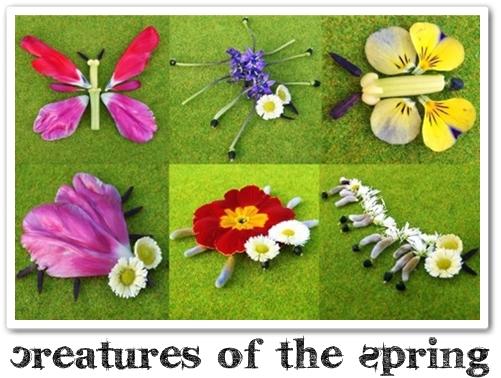 insekter gjorda av blommor