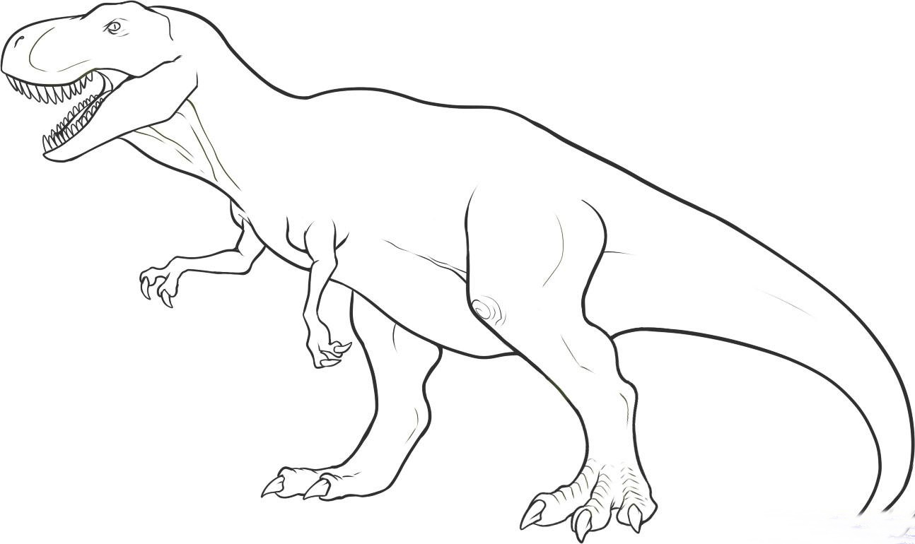 T rex dinosaur coloring pages