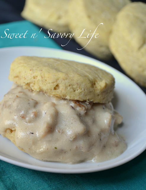 Southern Style Biscuits & Sausage Gravy {Gluten Free and Vegan}