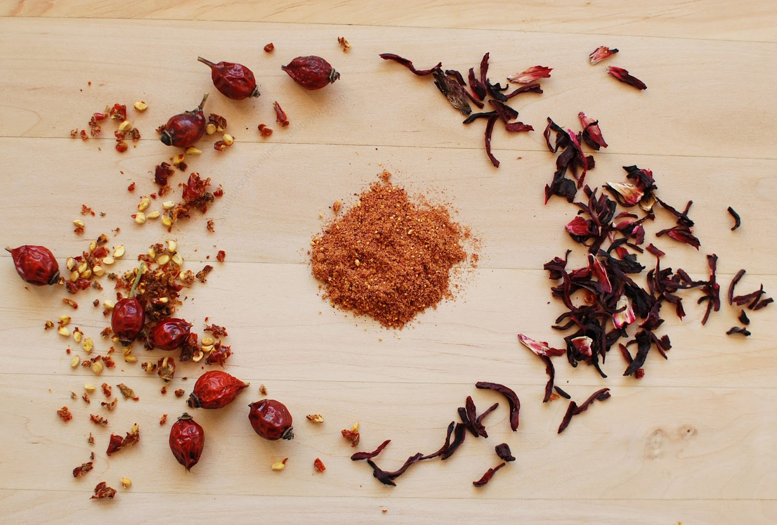 DIY Face Mask Hibiscus Rosehip