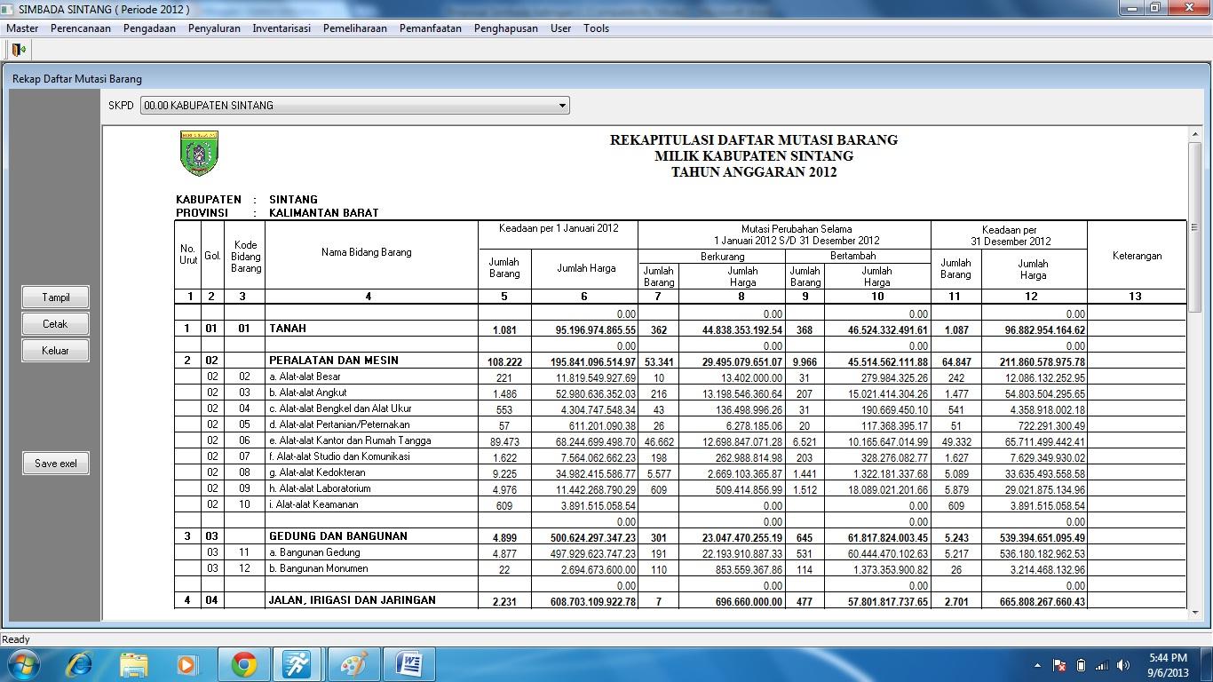 sistem informasi manajemen barang daerah  proposal