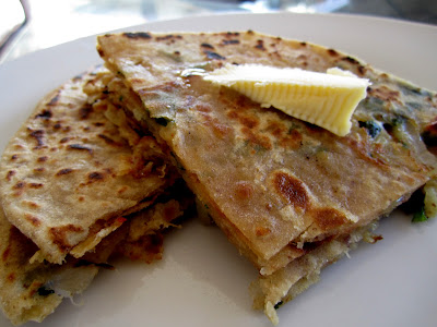 Onion and Cheese Paratha