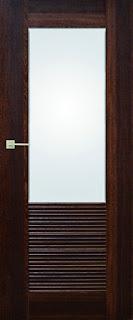 Zdjęcie drzwi wewnętrznych Pol Skone Sempre Onda, ciemny brąz