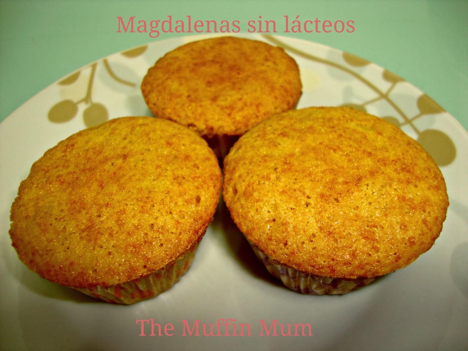 Magdalenas sin lácteos