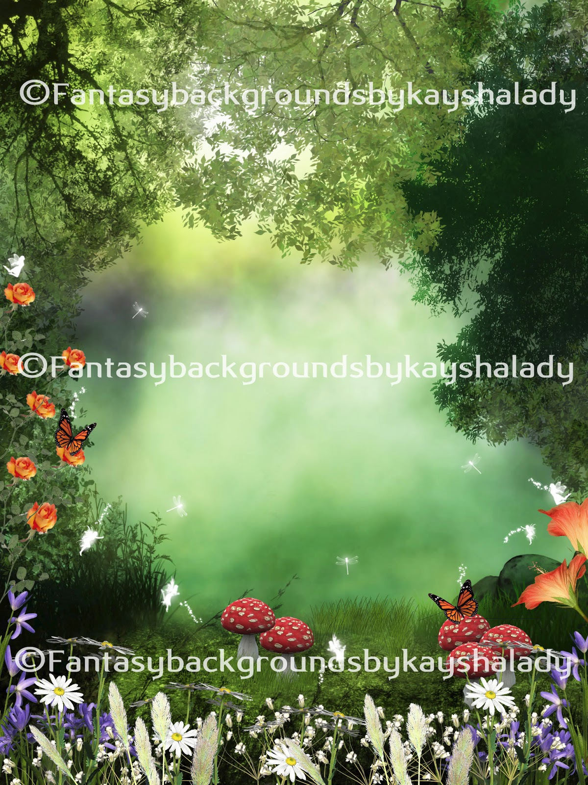 Digital Backgrounds PNG Tube Files Backdrops Fantasy Photography