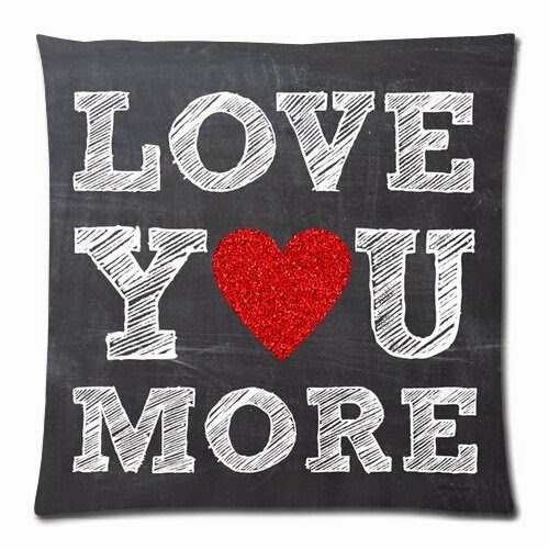 Chetery Quote Love Printed Pillow Case Valentine's Gifts