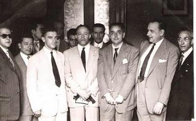 1951 - Visita del equipo lisboeta al local social del Club Ajedrez Ruy López Tívoli 06