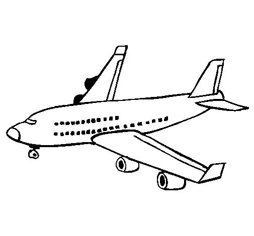 Dibujos de Aviones para colorear y pintar   Colorear y Pintar Dibujos