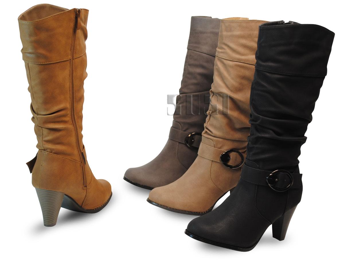 laarzen zwart platte hak