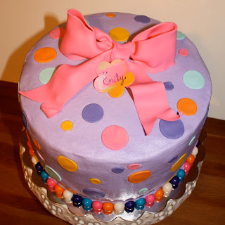 Kake Purple Polka Dot Cake