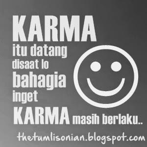 akan admin berikan Gambar DP BBM Kata Kata Karma tentang Cinta