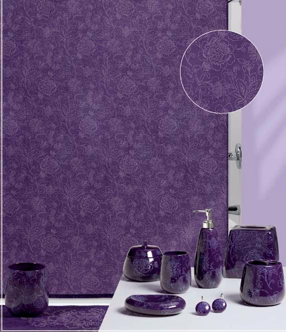 Bathroom shower curtains and matching accessories ayanahouse for Matching bathroom accessories sets