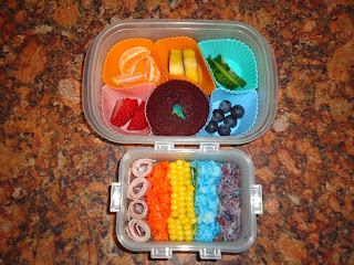 A Rainbow Packed Lunch