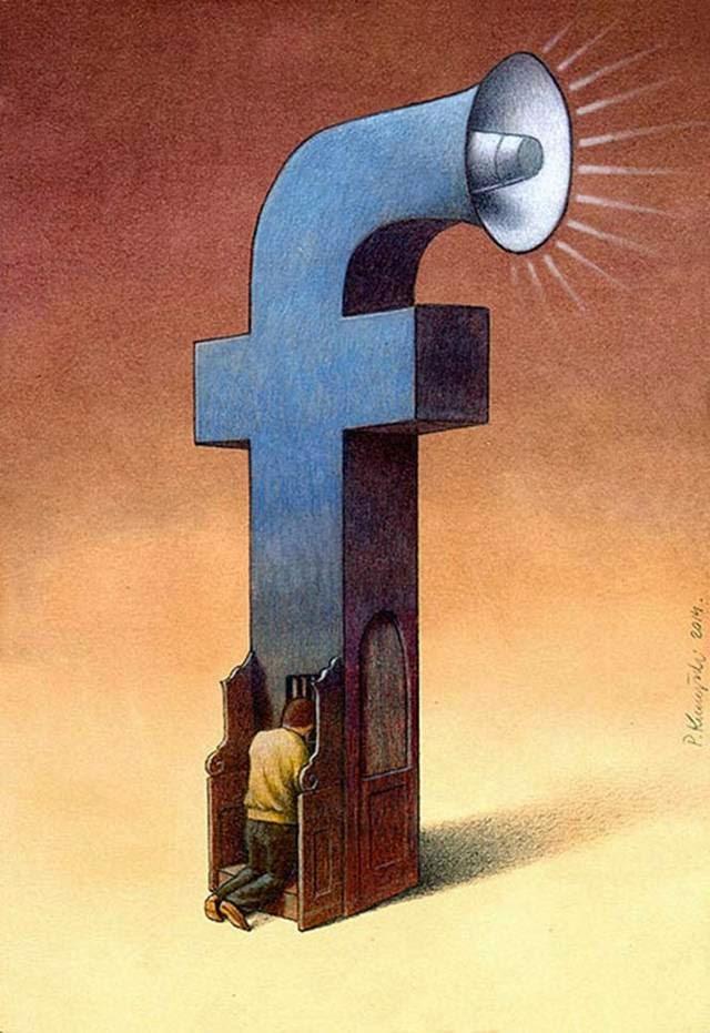 Facebook sketches By Pawel Kuczynski