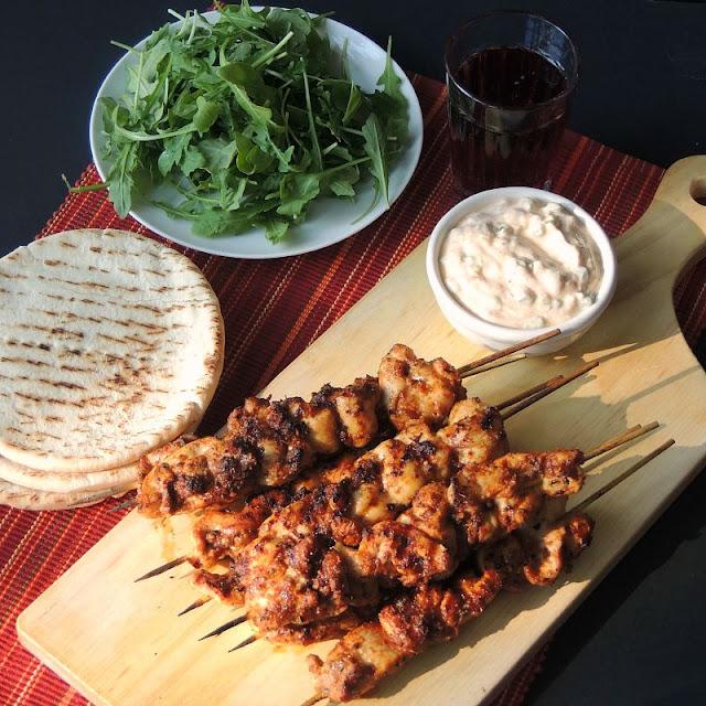 Harissa Spiced Chicken Kabobs from www.bobbiskozykitchen.