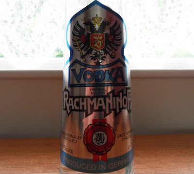 Rachmaninoff vodka bottle and label