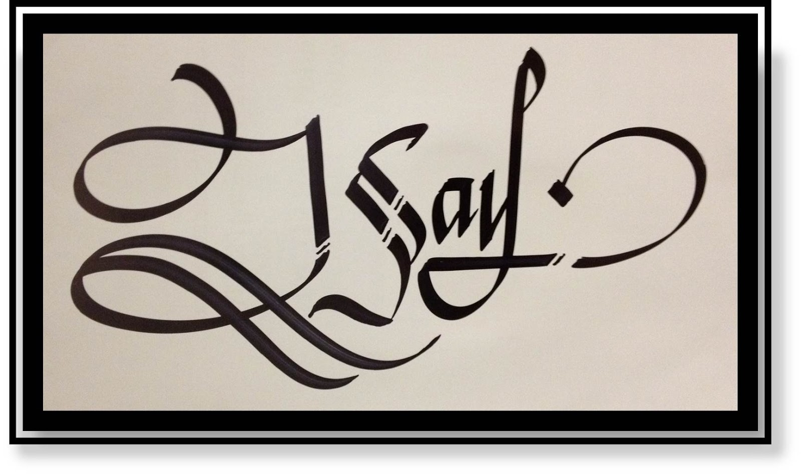 Calligraphy art russian names in isay