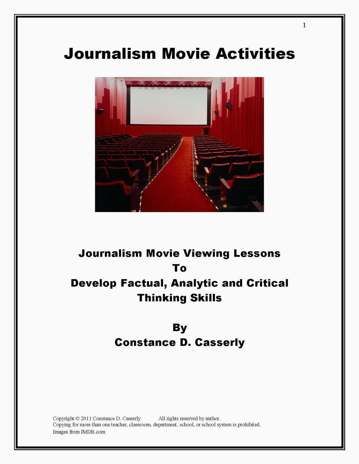 Journalism Movie Activities cover