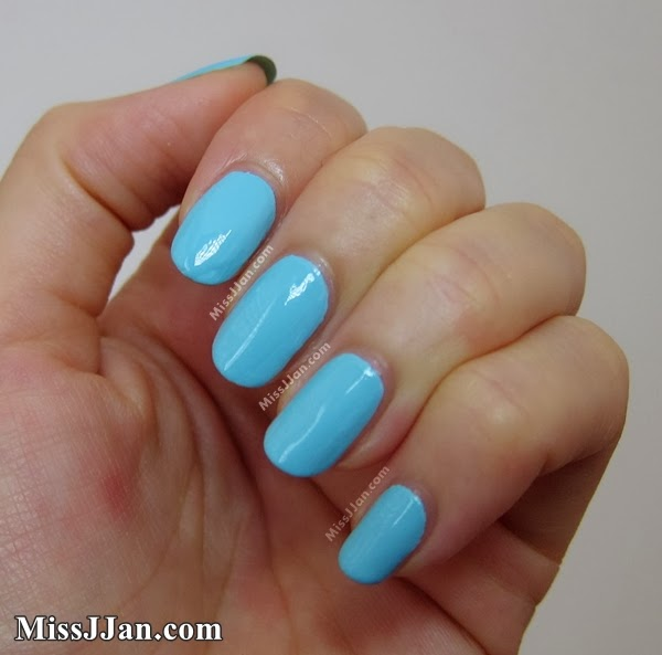 Sally Hansen Insta-Dri Blue-Away  Review and Swatch Sally Hansen Insta Dri Blue Away