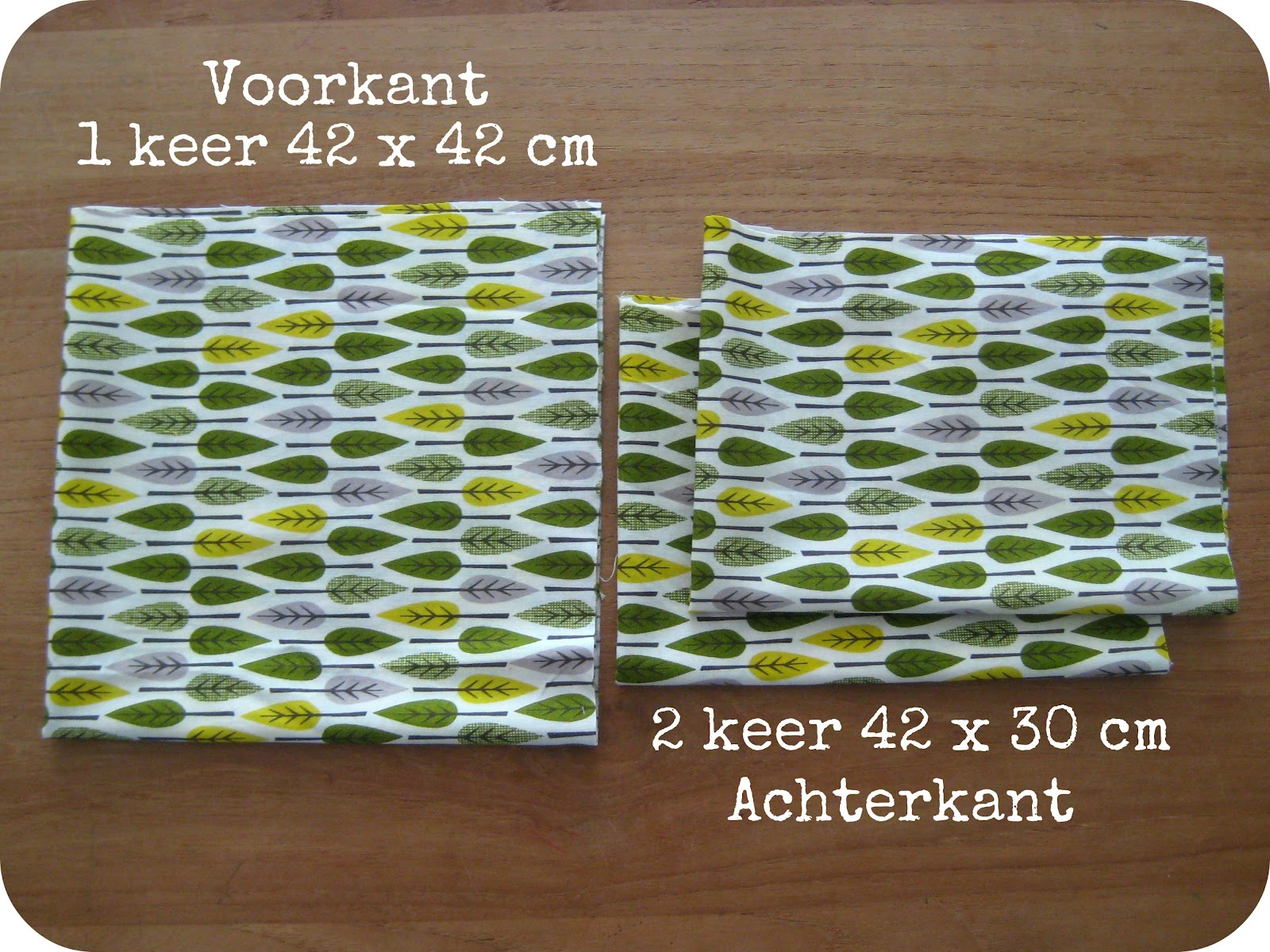 Sew Natural Blog: Naailes 4: Een KussenHoes Naaien