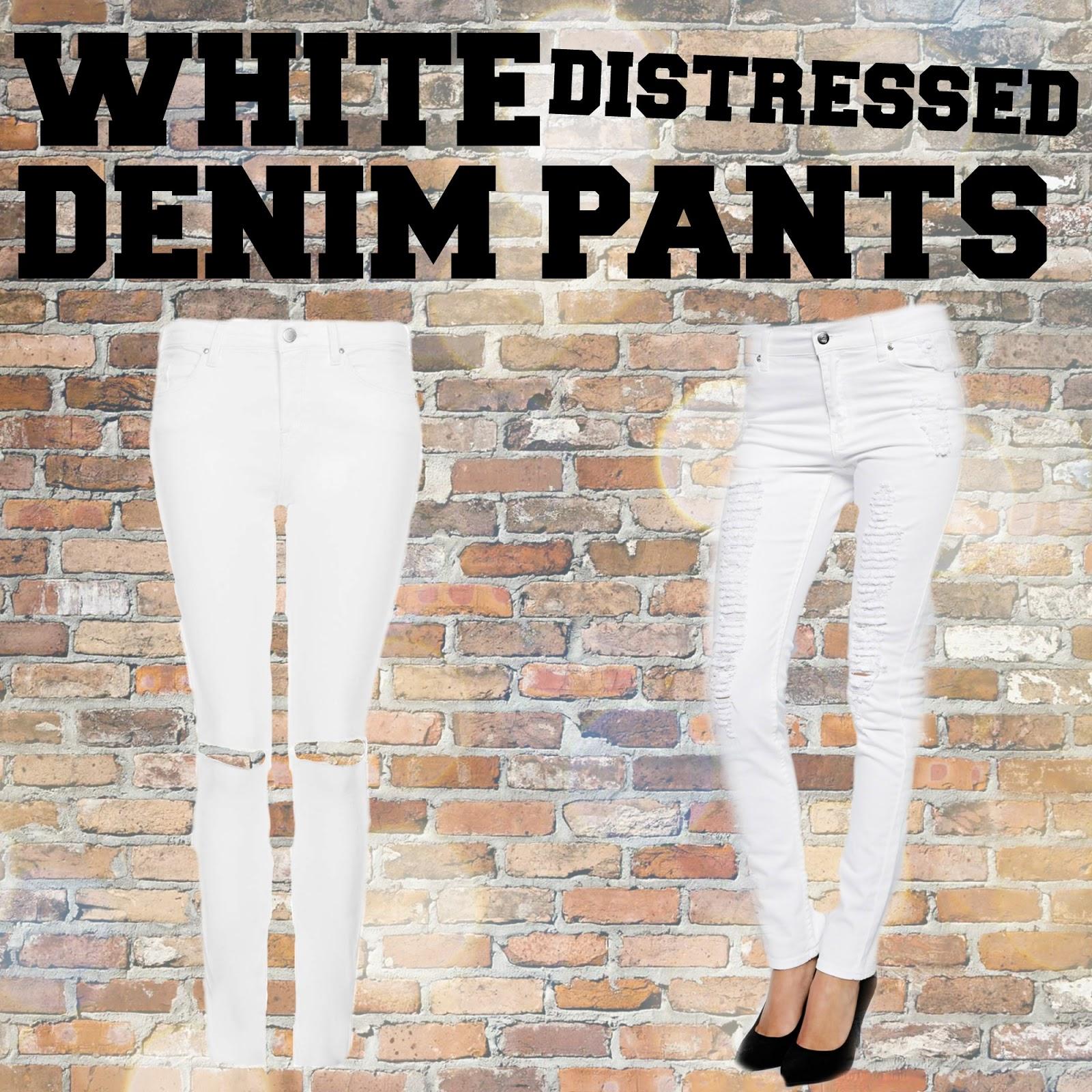 SS14 essentials white distressed denim topshop asos