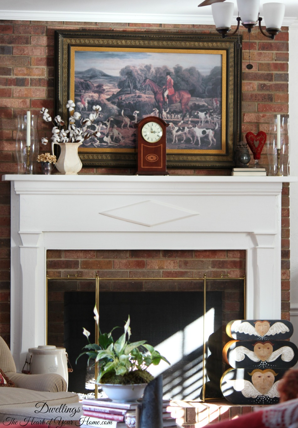 decorating the fireplace mantel hearth dwellings the